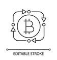 bitcoin exchange linear icon vector image