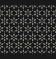 black and white seamless geometric floral pattern vector image vector image