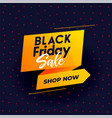 black friday modern sale background for online vector image vector image