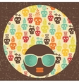 Black head woman with strange pattern vector image