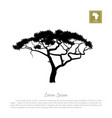 black silhouette of a tree and white background vector image vector image