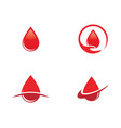 blood drop donor icon vector image vector image
