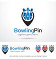 bowling logo template vector image