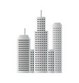building skyscraper design template isolated vector image