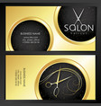 business card golden beauty salon and stylist vector image vector image