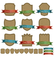 christmas emblems vector image vector image