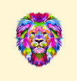 colorful mascot head lion vector image vector image