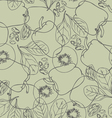 Contour vegetables seamless pattern vector image