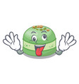 crazy pistachio cake in mascot shape vector image vector image
