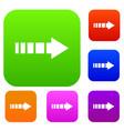 cursor set collection vector image vector image