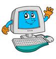 cute computer vector image