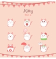 Cute funny cats set various emotions vector image