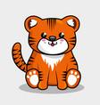 cute tiger character kawaii style vector image vector image