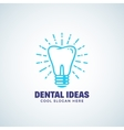 dental ideas abstract logo template vector image