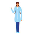doctor woman on white background vector image vector image