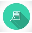 Documents search icon vector image vector image