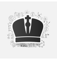 Drawing business formulas crown vector image vector image