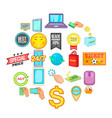 e-commerce icons set cartoon style vector image vector image