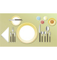 elegant table dinner setting vector image vector image