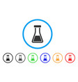 flask rounded icon vector image vector image