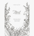 flyer or poster template with lily of the valley vector image