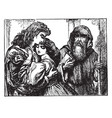 friar lawrence marries romeo and juliet vintage vector image vector image