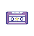 full color old cassette retro object stereo vector image vector image