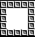 geometric picture photo frame in squarish format vector image
