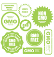GMO free stamps stickers and labels vector image