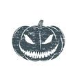 Grunge Halloween pumpkin vector image