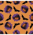 Halloween Jack-o-lantern seamless pattern vector image vector image