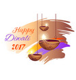 happy diwali 2017 poster on vector image