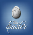 happy easter egg in form a volleyball ball vector image vector image