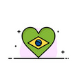 heart brazil flag love business logo template vector image