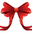 Holiday red bow2 vector image