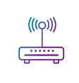 line router wifi connection network technology vector image
