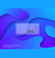 liquid abstract violet and blue background vector image