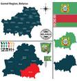 map gomel region belarus