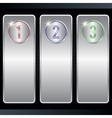 Metallic banners collection vector image vector image
