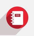modern document red circle icon vector image vector image