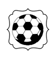 monochrome frame with soccer ball