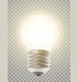 naturalistic lit glowing light bulb lighting vector image