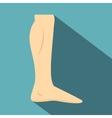 Nude human leg icon flat style vector image vector image