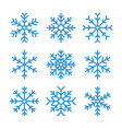 outline snowflake icons editable stroke vector image