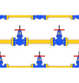 Pipeline valve pattern vector image
