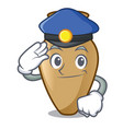 police amphora character cartoon style vector image