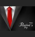presidents day design of suit with red necktie vector image vector image