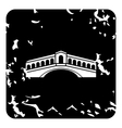 Rialto Bridge Venice icon grunge style vector image vector image