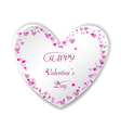 Romantic pink heart background frame vector image vector image