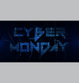 sale technology banner for cyber monday vector image vector image